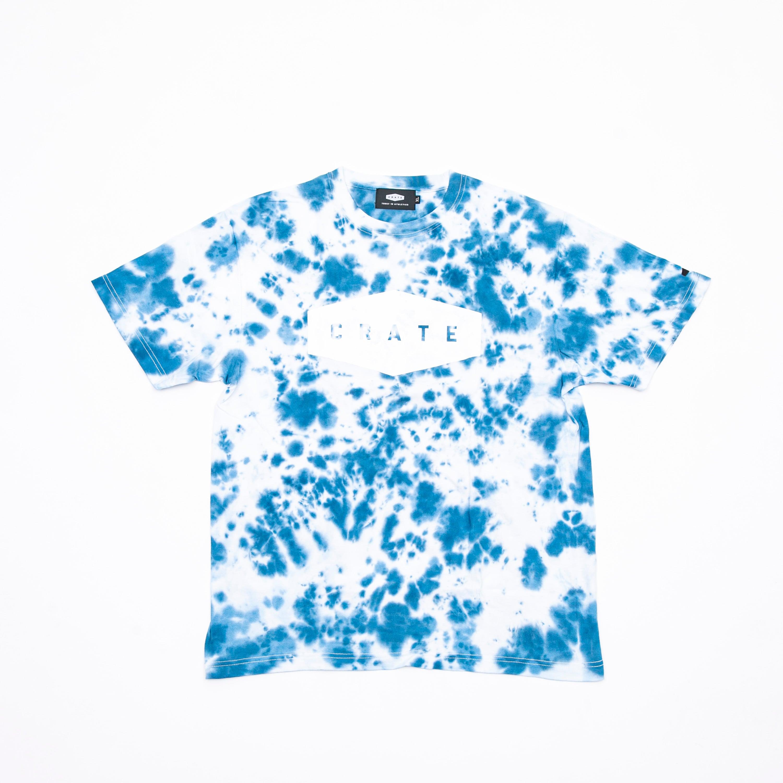 TIE DYE LOGO T-SHIRTS BLUE