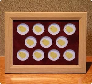 記念メダル収納 木製フレーム(11穴)