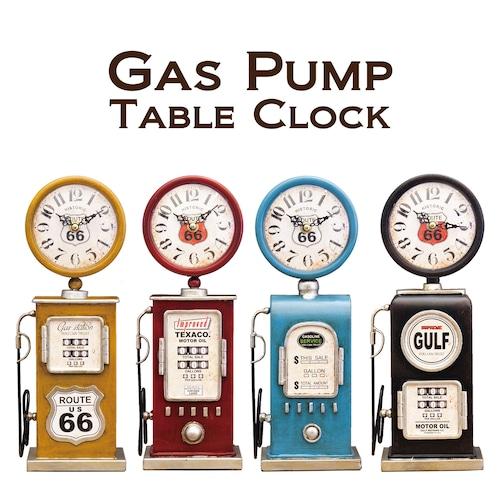 【置時計】テーブルクロック[ガスポンプ]<アメリカン雑貨>