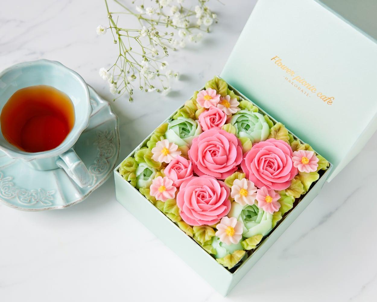 【Spring Garden】食べられるお花のボックスフラワーケーキ