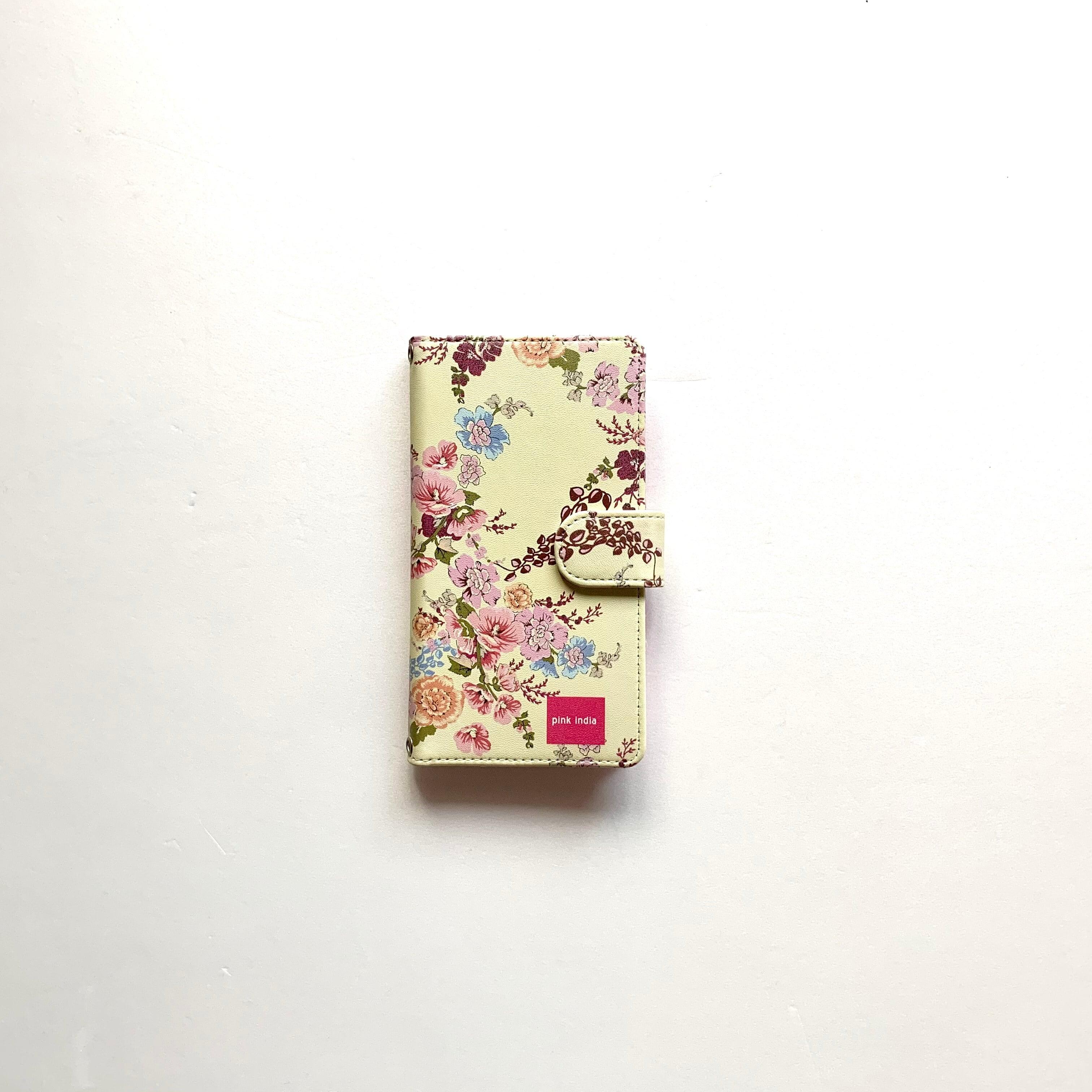 北欧デザイン iPhone手帳型ケース  | yellow flower