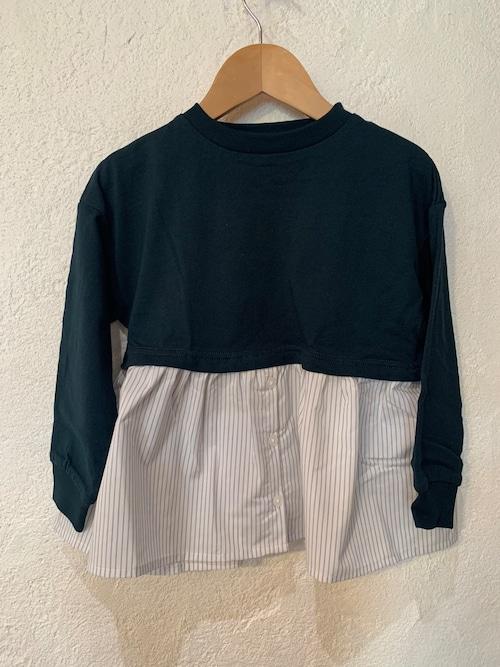 KIDS:ocean&ground /ガールズレイヤードTシャツ  90-140㎝