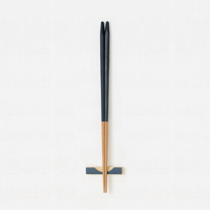 細身角箸(黒) 【45-031】