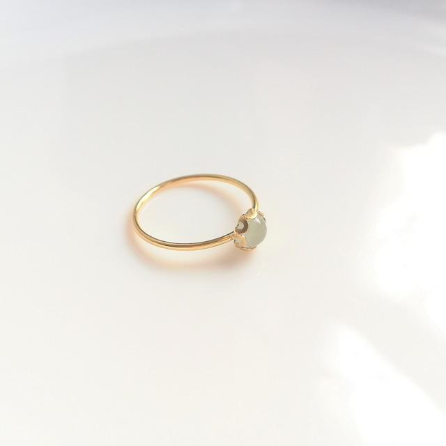 アクアマリンのベゼル指輪(14kgf)