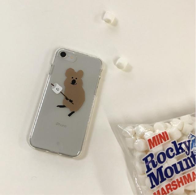 [DINOTAENG] Smore クリア iPhone ケース(7/8/SE2,11,11PRO,12/12PRO)