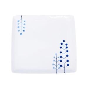 波佐見焼 WAZAN 和山窯 flowers 角プレート 皿 ドットツリー 327001