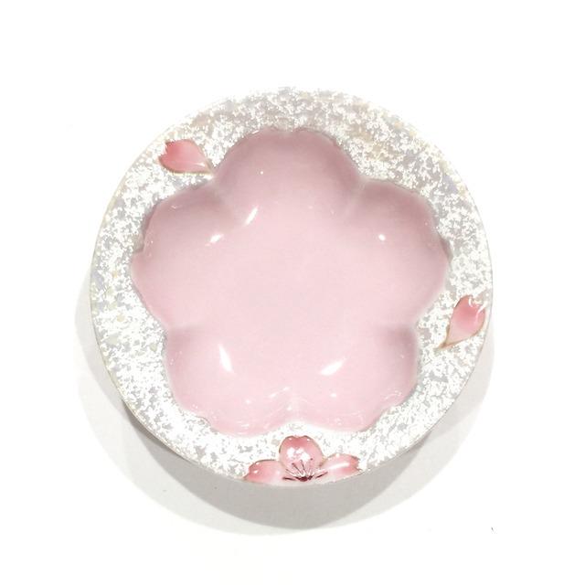 虹彩桜  桜型豆皿