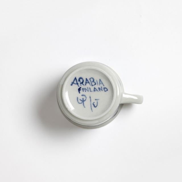 ARABIA アラビア Anemone アネモネ デミタス C&S、プレート三点セット - 1 北欧ヴィンテージ