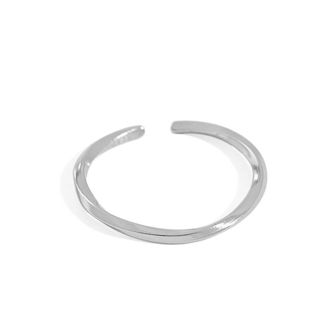 s925 Twist Ring【SILVER】