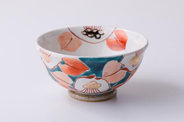 飯碗 釉彩椿