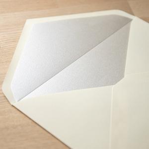 飾り紙 シルキーシルバー(洋1封筒用)| 10枚