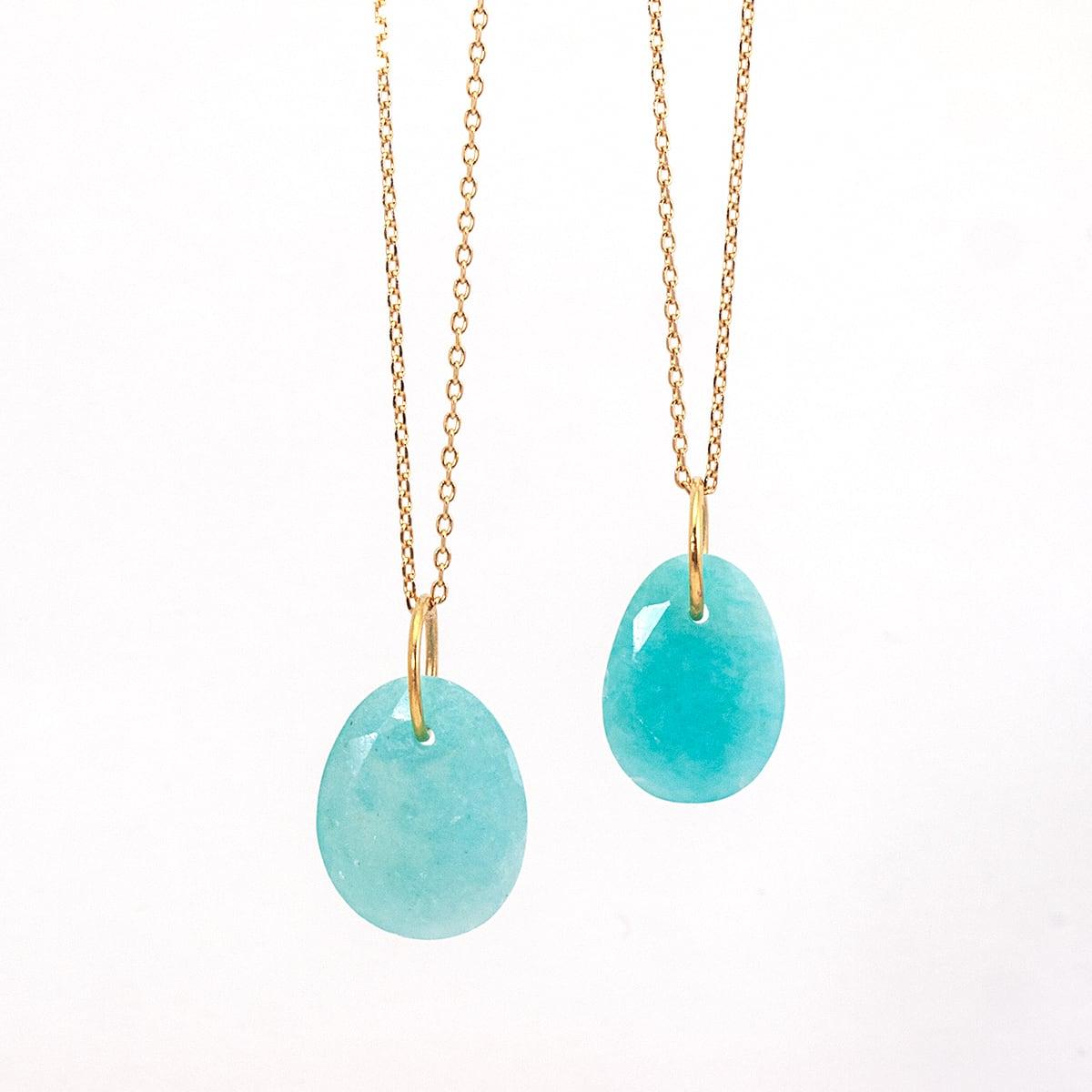 Amazonite charm necklace