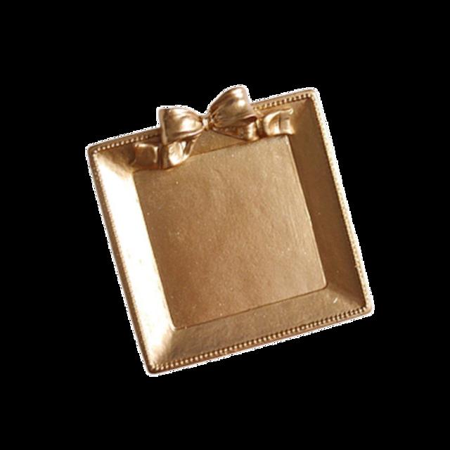 Gold ribbon tray / ゴールド リボン ミニトレイ