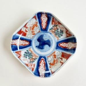 〈再入荷〉【21021】伊万里 色絵小皿 明治/ Imari Small Plate/ Meiji