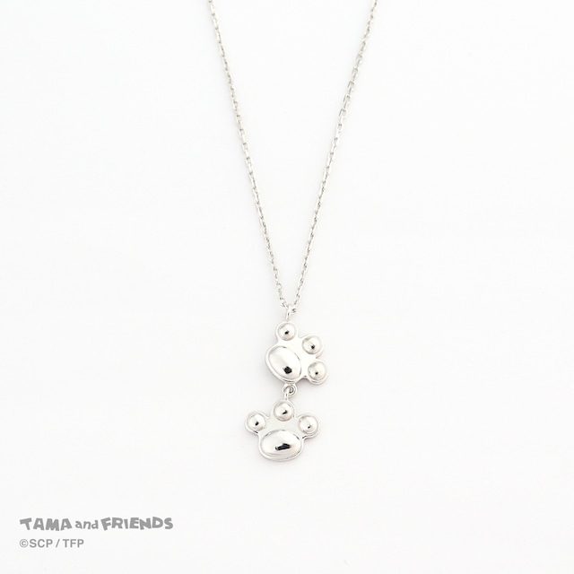 Tama and Friends paws necklace