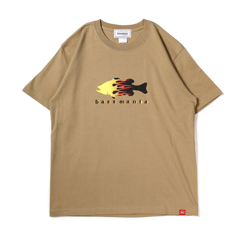 ファイヤーパターンTシャツ[S.BEG]