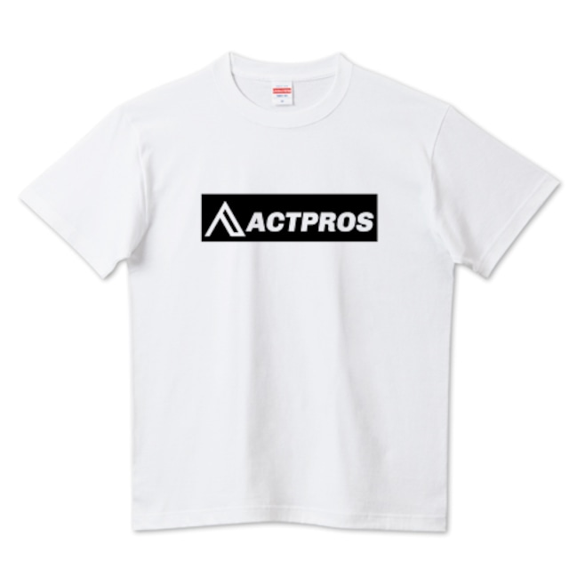 【MEN'S】ACTPROS ボックスロゴ 5.6ハイクオリティーTシャツ(United Athle) ホワイト【9colors】