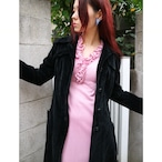 Velour long coat