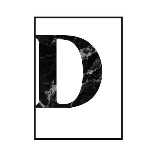 """""""D"""" 黒大理石 - Black marble - ALPHAシリーズ [SD-000505] A2サイズ ポスター単品"""