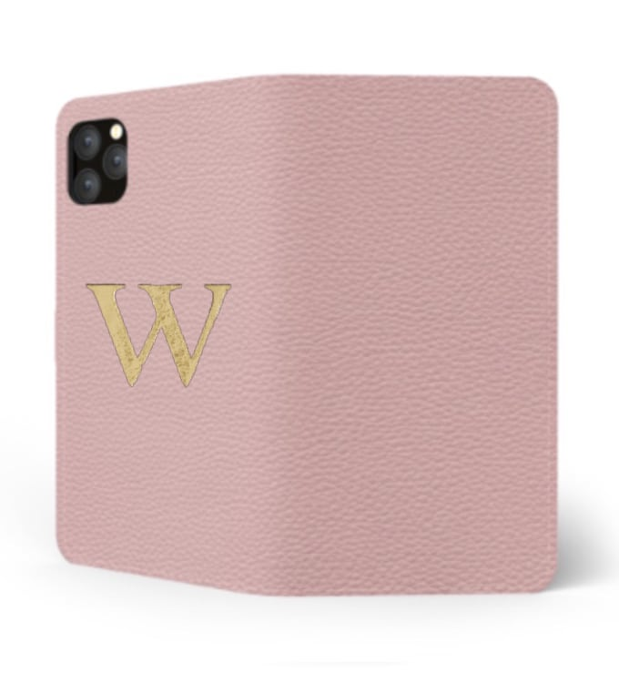 iPhone Premium Shrink Leather Case (Blush Pink)  : Book cover Type