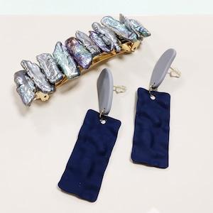 SET ITEMS || 【通常商品】BLUE PEARL & SEAWEED PIERCINGS SET || 2 ITEMS || BLUE || CRSM0617D