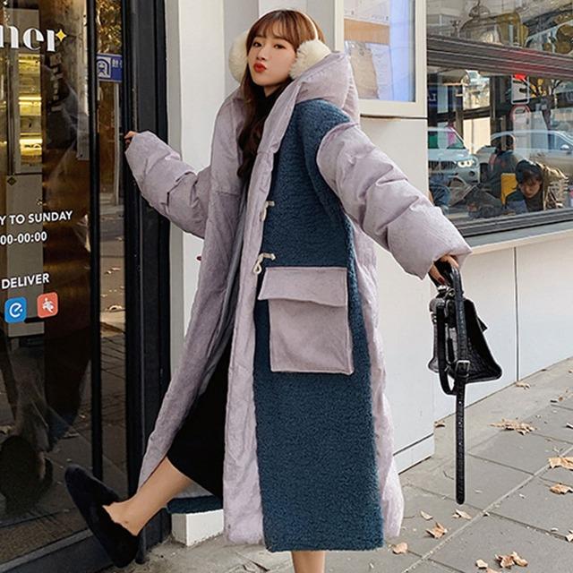 【アウター】超人気韓国系長袖フード付きシングルブレスト綿コート53524690