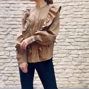 DOUBLE STANDARD CLOTHING(ダブルスタンダードクロージング) LAZER BROAD RGブラウス 2021秋冬新作[送料無料}