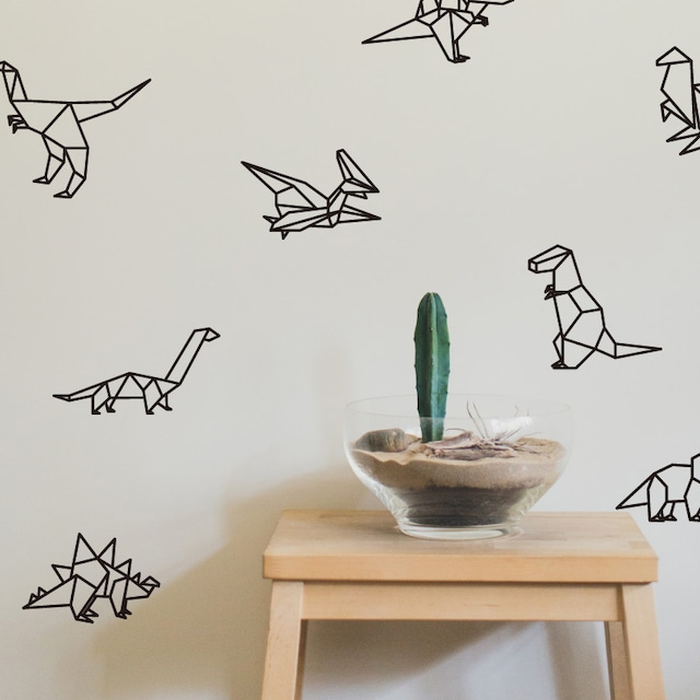 お好きなお色で♪ 恐竜デザイン ウォールステッカー