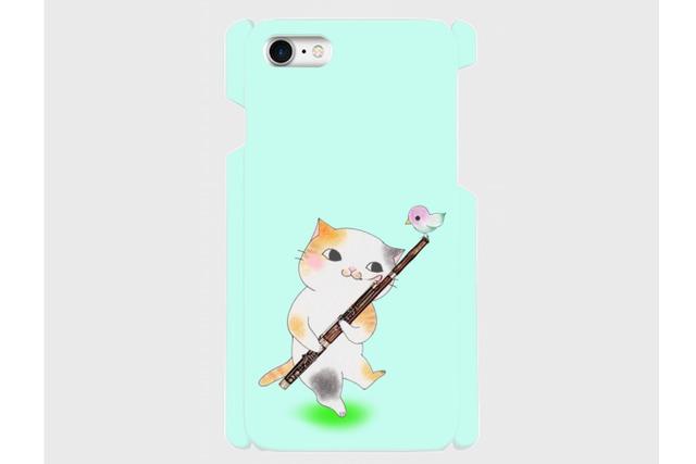 (iPhone用)ファゴット猫のスマホケース