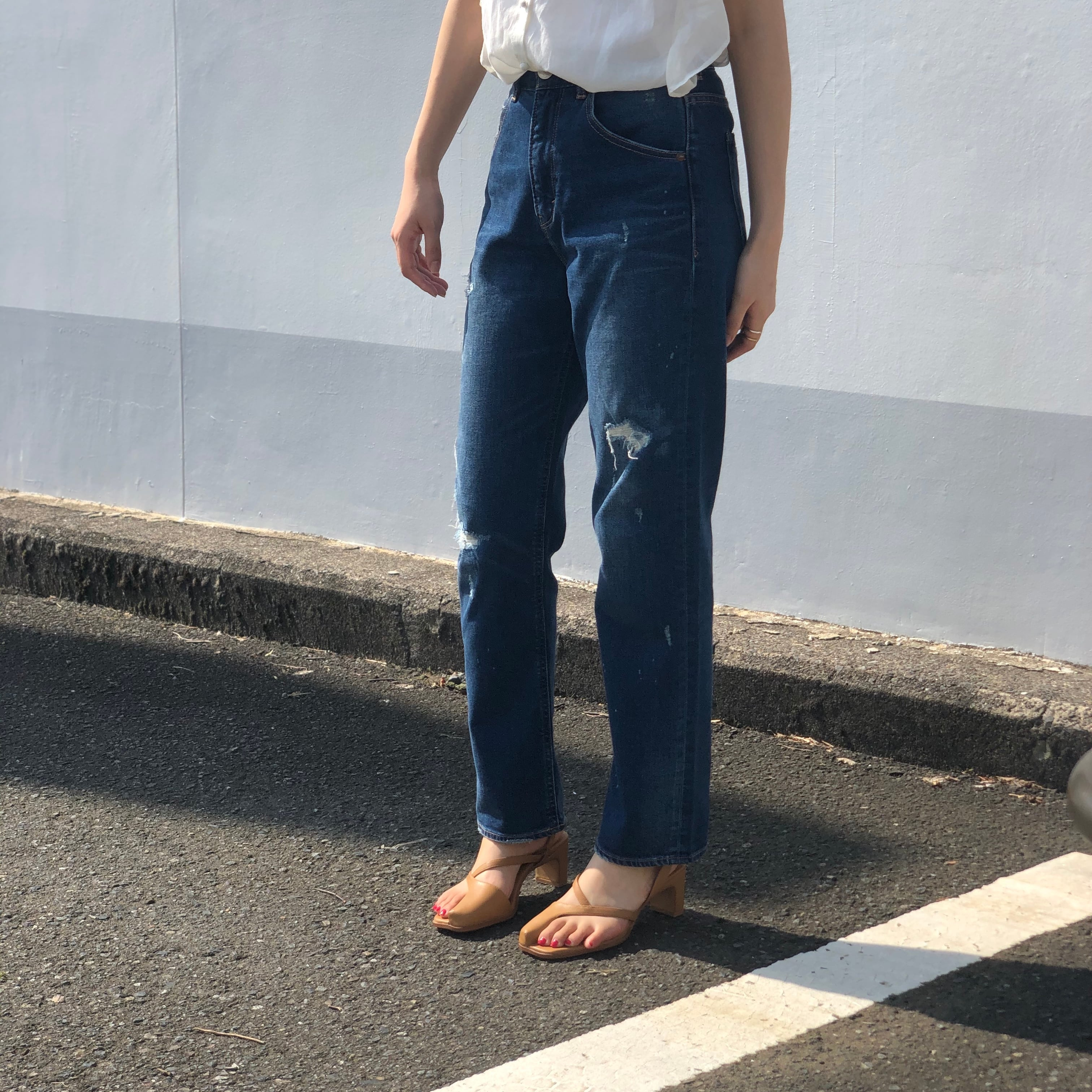 【 ANTGAUGE 】- C1734 - ダメージデニムパンツ