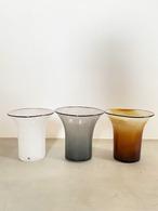 kasumi vase S size  (ホワイト / ブルー / イエロー )