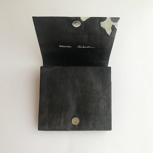 黒谷和紙のカードケース財布【黒曜】