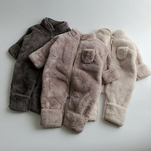 【送料無料・即納】fluffy fleece baby jumpsuit〔ボアフリースベビージャンプスーツ〕 here i am