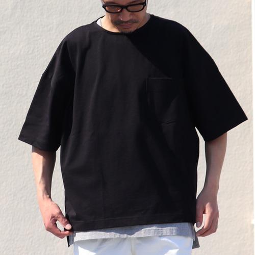 VORTEX 8oz Side Slit Half Sleeve Box-T-Shirts Super Black