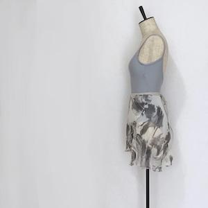 """❖""""Fiorina"""" Ballet Wrap Skirt - Suisai Brush・WHITE [Sheer](水彩ブラッシュ・白 [シアー])"""