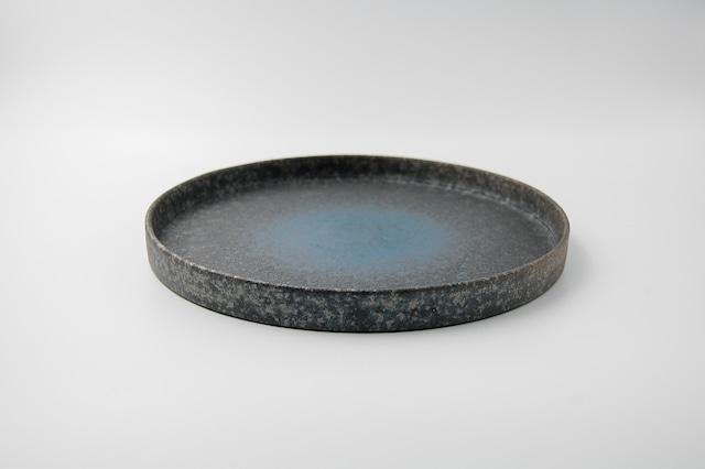 ◆受注生産◆  鉄釉紺23㎝切立皿 オーダーメイド対応品