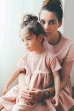 with Mom  PINK
