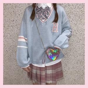 【お取り寄せ】学生風 パステル ロゴ スウェット 2色