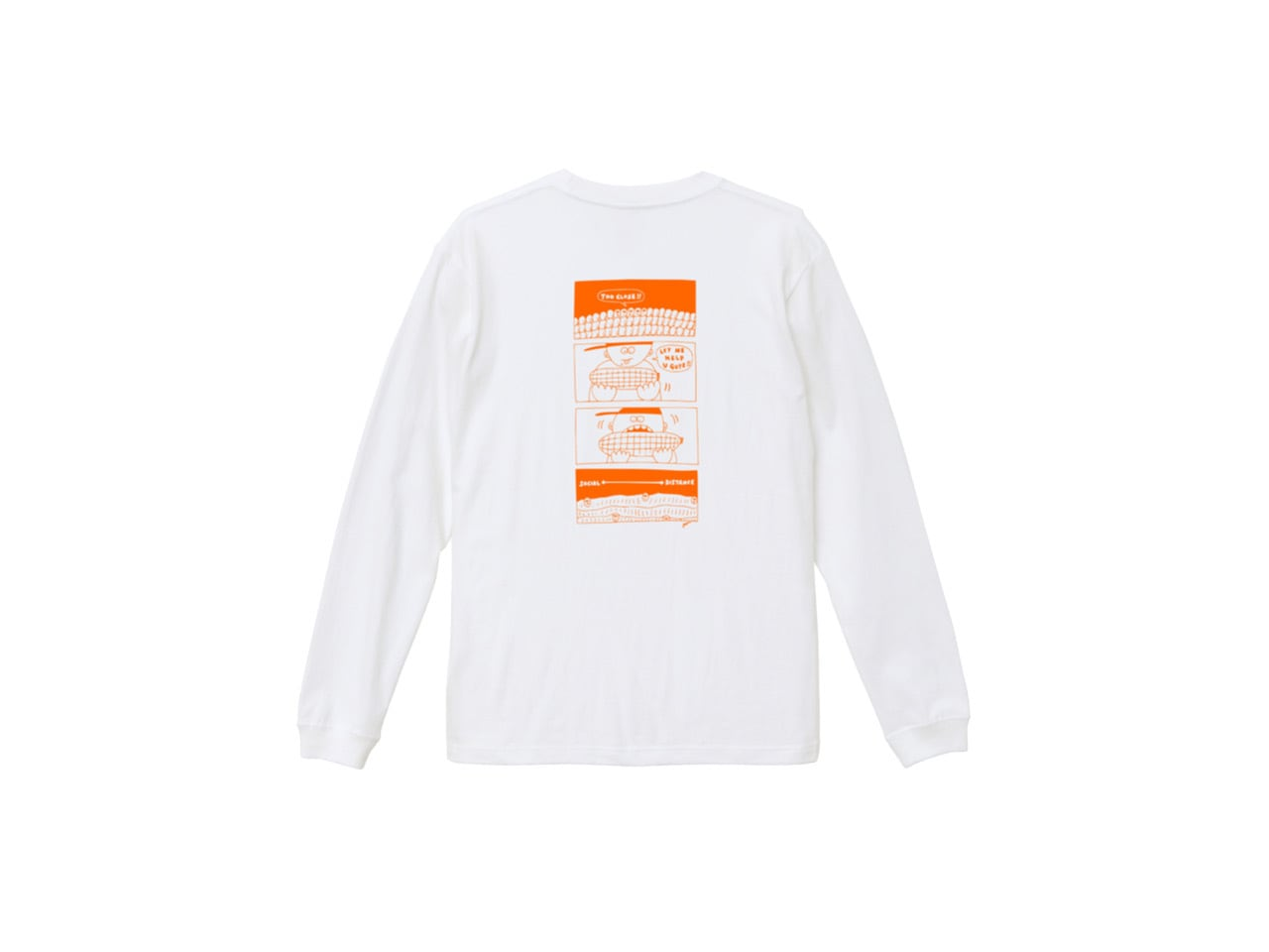 SHI × coguchi Corn SD long T-shirt (WH/OR)