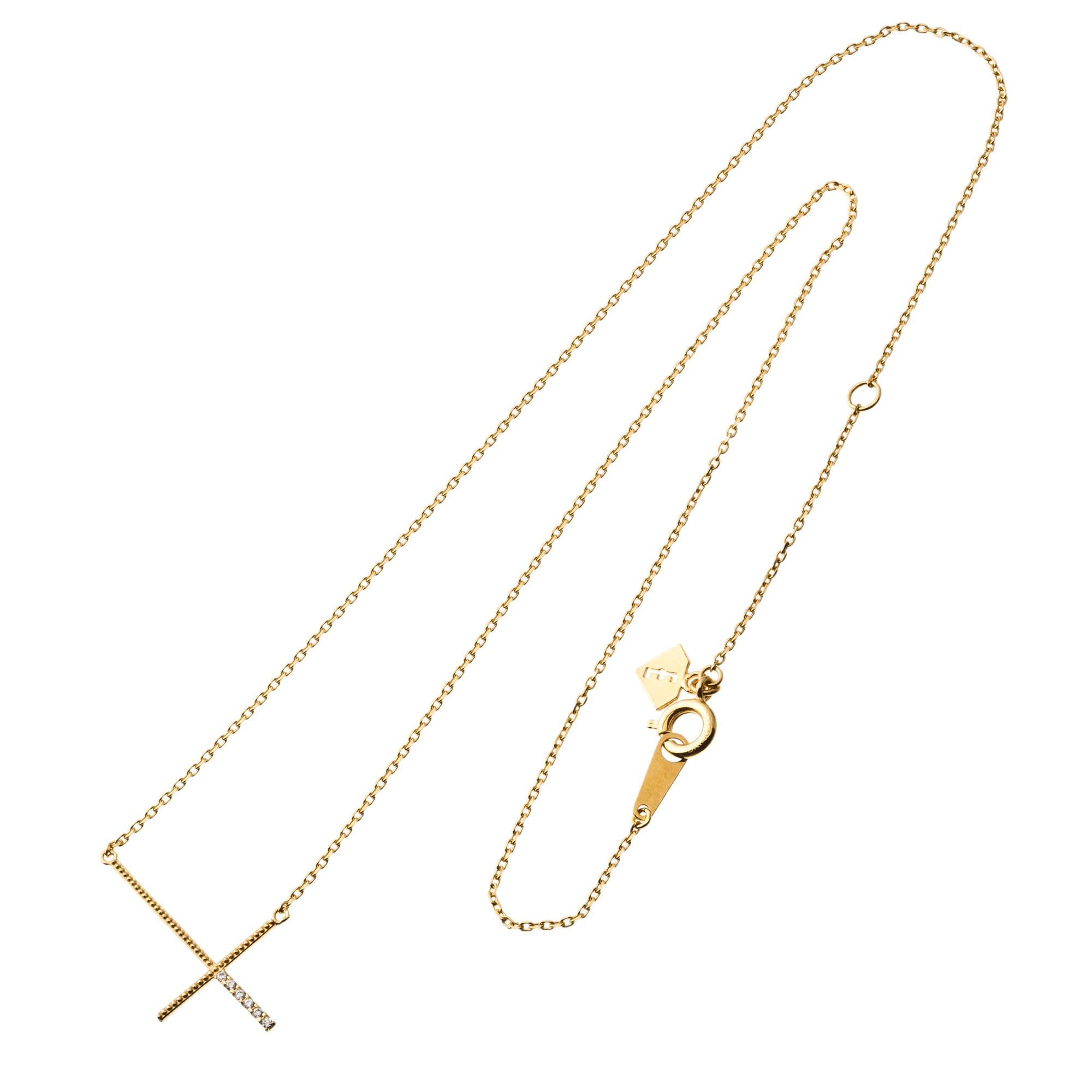 Reverse cross necklace リバースクロスネックレス ELP0006SG