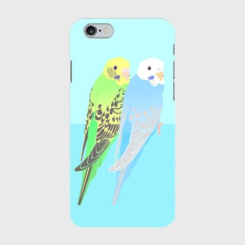 iPhoneケース セキセイインコ グリーン&パイドブルー【各機種対応】