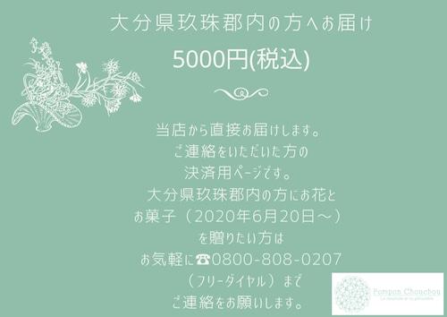 大分県玖珠郡内の方へお届け❁5000円(税・配送料込)