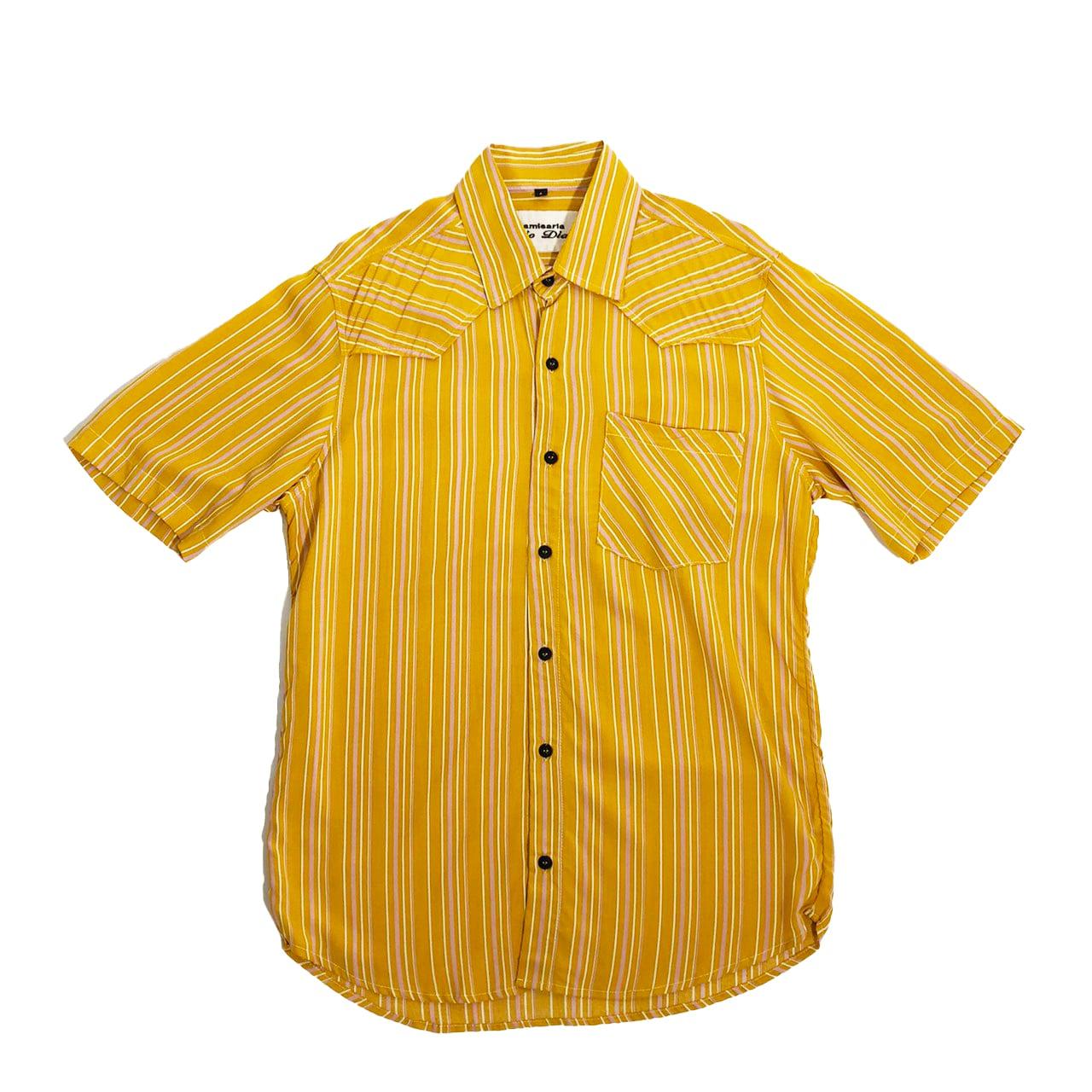 Caio Dias_Viscose Print Shirt:Yellow