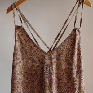 Select Item / Batik pattern Back Ribbon Dress #pink beige / バティック柄 バックリボン キャミ ドレス