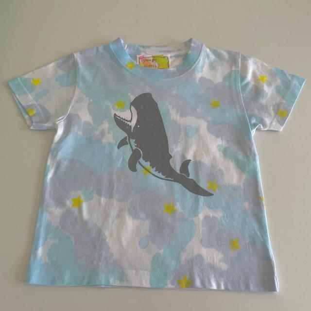 受注制作 kidsTシャツ「マッコウクジラ&ザトウクジラ」80cm~140対応