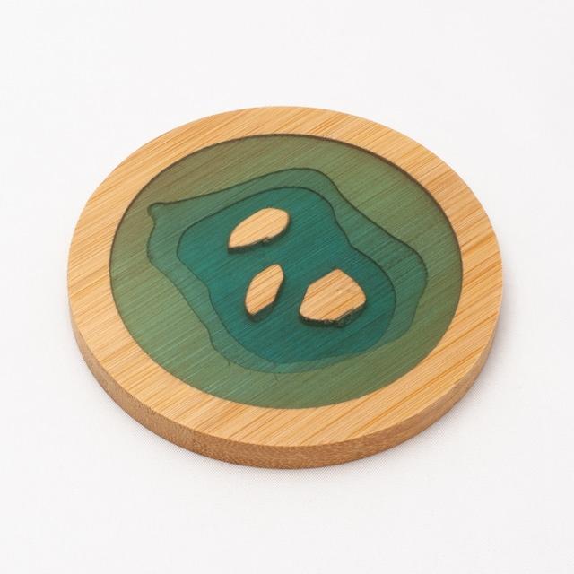 なぎさコースター/三島 (竹・樹脂)