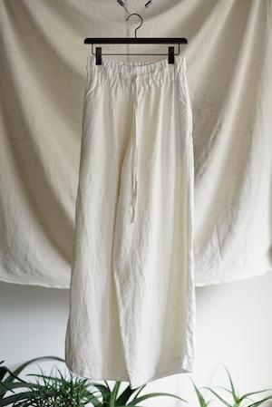 <SOLD OUT>Vincent Jalbert - Full Vintage Linen Large Elasticed Pants (natural)