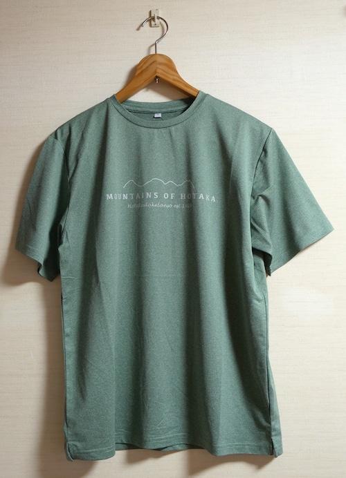 【MOUNTAINS OF  HOTAKA 穂高連峰_杢グリーン】Tシャツ