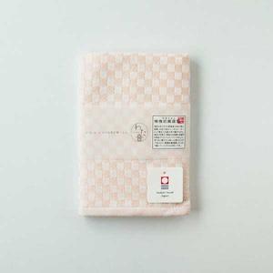 わた音カラー しゅす織り ハンカチタオル/桃色 1-61157-51-P
