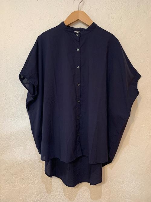 sabbatum/ ローンノースリワイドシャツ  ネイビー